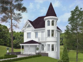 Проект дома из пеноблоков Дачный 8х8, площадь 9720 квм